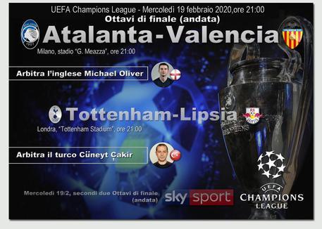 Champions League, Atalanta-Valencia: le formazioni, Gasperini: