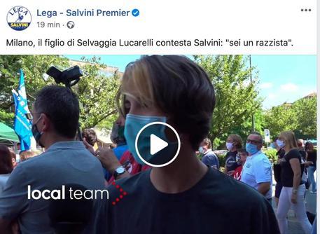 Selvaggia Lucarelli, il figlio contesta Salvini: identificato dalla Polizia
