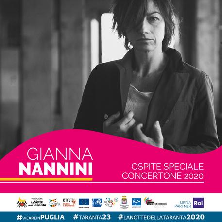 Gianna Nannini star della 'Notte della taranta' con Mahmood e Diodato