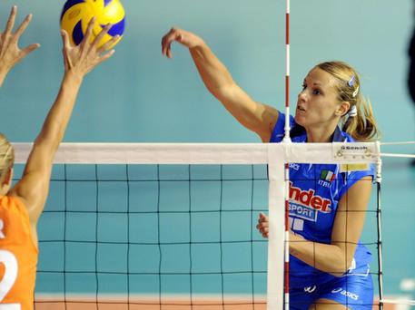 La pallavolista Francesca Marcon (a destra) © EPA