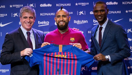 Presentation of Arturo Vidal as new player of FC Barcelona