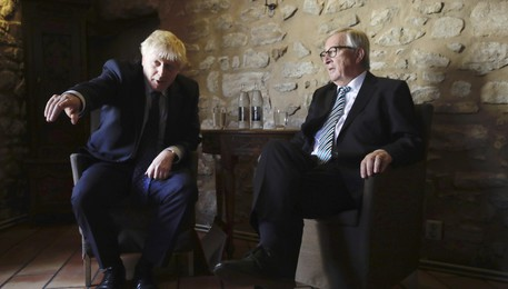 Jean-Claude Juncker,Boris Johnson (ANSA)