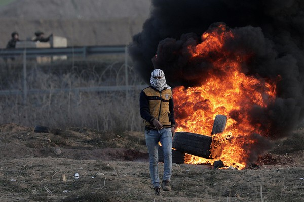 Clashes near Gaza following protests