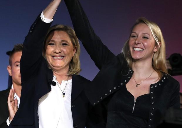 Marine e Marion Le Pen in una recente foto (ANSA)