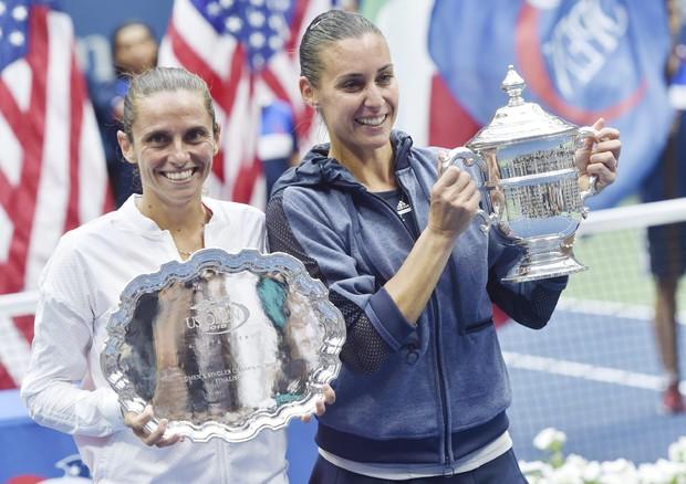 Pennetta trionfa agli Us Open, battuta Vinci in due set (ANSA)