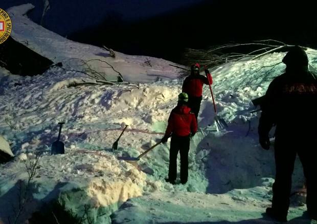 Dal profilo Twitter del Soccorso Alpino e Speleologico © Ansa