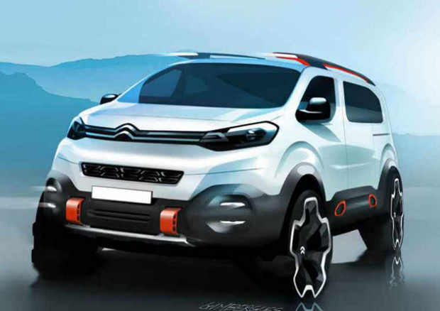 citroen space tourer 4x4 concept il minivan studia da suv prove e novit. Black Bedroom Furniture Sets. Home Design Ideas