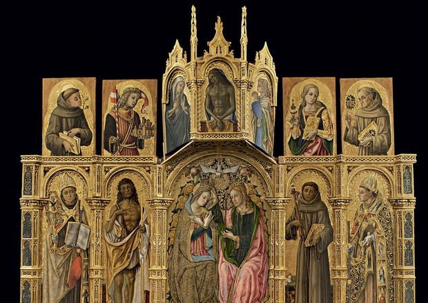 Vittore Crivelli, Incoronazione di Maria Vergine e Santi: (ANSA)