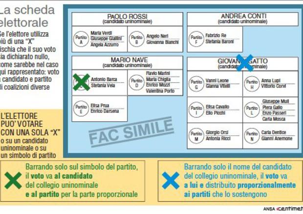 Elezioni Politiche 2018 come si vota: attenzione al voto disgiunto