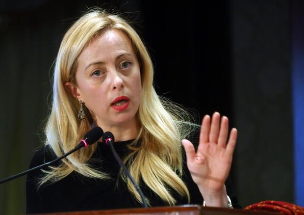 La presidente di Fratelli d'Italia Giorgia Meloni