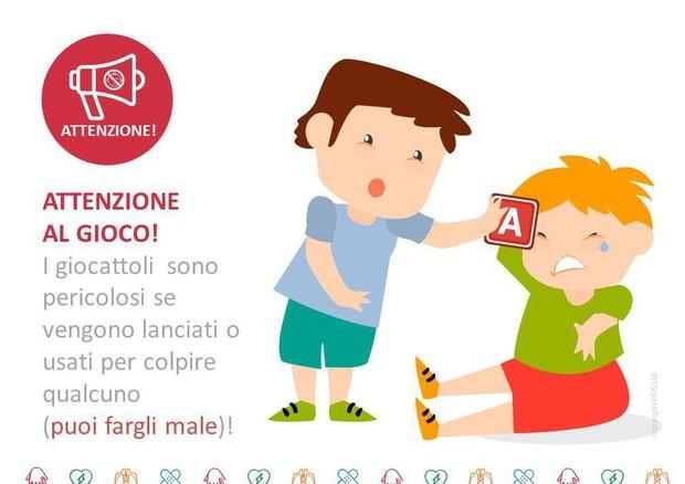 Le slide usate dal Sis 118 per insegnare a bambini e ragazzi il Primo soccorso (ANSA)