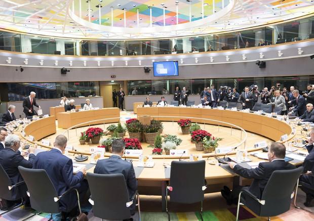 Il presidente del Consiglio Giuseppe Conte durante il Consiglio europeo, Bruxelles, 13 dicembre 2019 - ANSA/ UFFICIO STAMPA PALAZZO CHIGI/ FILIPPO ATTILI (ANSA)