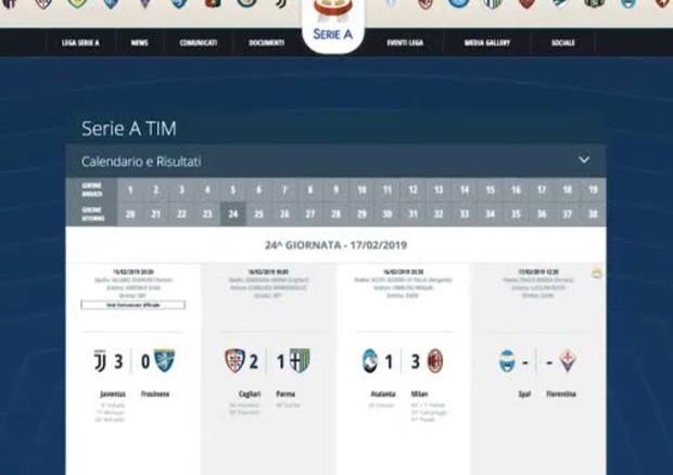 Serie A Tim Calendario E Risultati.Milan Affonda L Atalanta 3 A 1