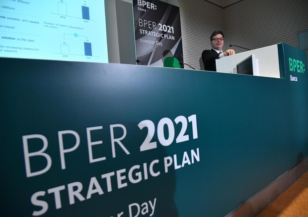 Presentazione del 'Bper  2021 Strategic Plan © ANSA