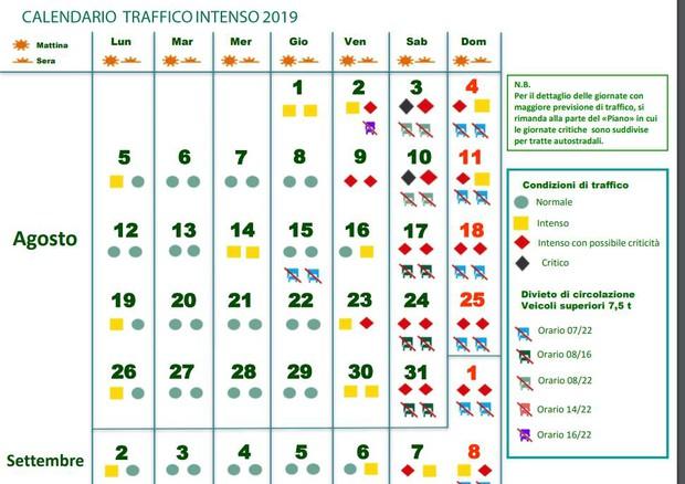Calendario Circolazione Autocarri 2019.Traffico Bollino Nero Sabato Sulla A4 E Sulla A22