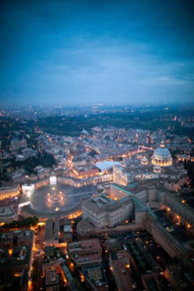 Elicottero Notte : Foto la notte di wojtyla roma dall elicottero primopiano