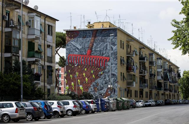 roma come new york periferia diventa tela per street art