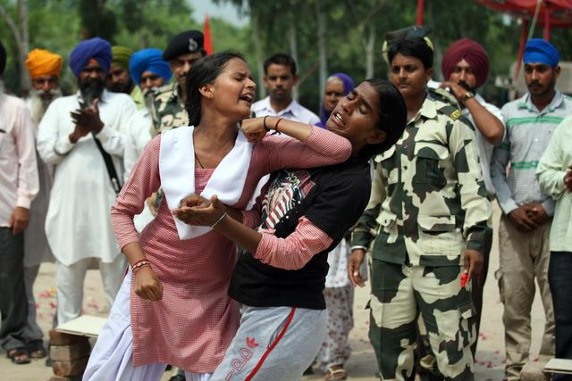 Self-defense training for village school girls in India
