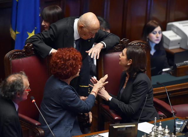 Napolitano e le presidentesse primopiano for Vicepresidente della camera