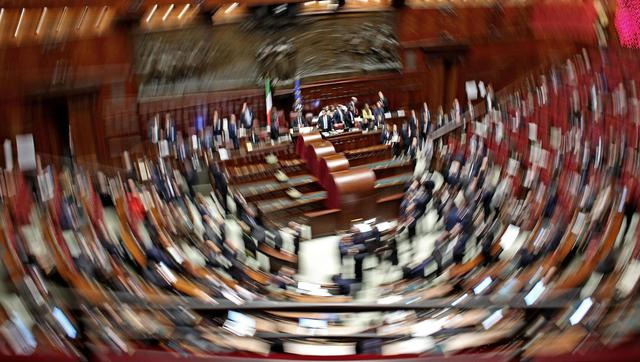 Il parlamento in seduta comune durante la seconda for Parlamento in seduta comune