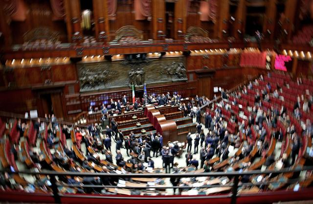 Parlamento durante la ii votazione per il capo dello stato for Votazioni parlamento