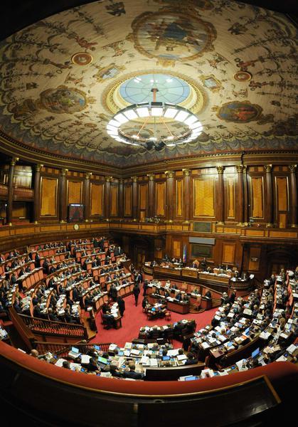 Una veduta dell 39 aula del senato della repubblica italiana for Logo senato della repubblica