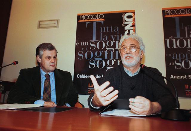 Sergio Escobar con Luca Ronconi