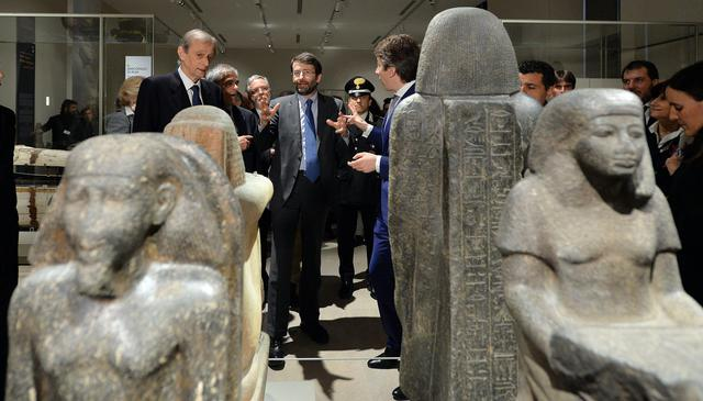 Turin's Egyptian Museum, inauguration of new guided tour ©