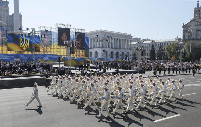 Marcia per il giorno dell 39 indipendenza a kiev primopiano for Indipendenza del piano di cabina del mare