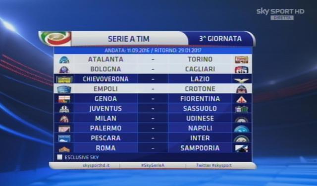 Serie A Calendario 7 Giornata.Ecco Il Calendario Della Serie A Sport Ansa It