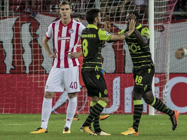 Champions: Olympiacos-Sporting Lisbona 2-3 ©