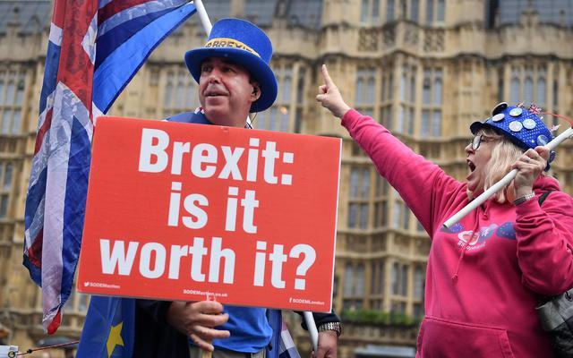 Manifestazione No Brexit Davanti A Parlamento Londra