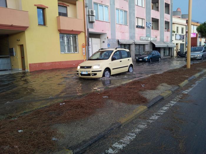 Maltempo: nubifragio nel Cagliaritano