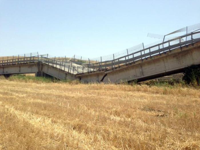 Crolla un ponte tra Ravanusa e Licata: sei feriti$