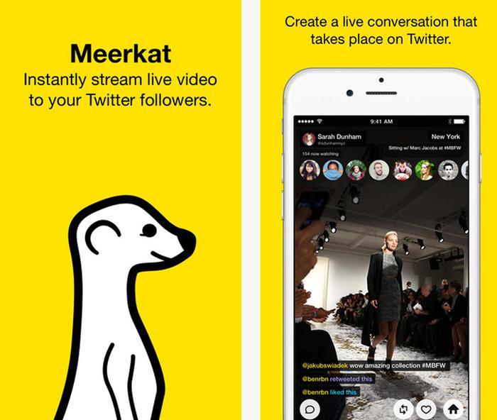 Ecco Meerkat, app per lo streaming che fa paura a Twitter