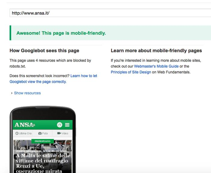 Nuovo algoritmo Google premia i siti mobile friendly