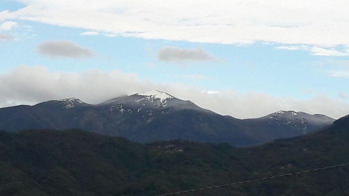 Prima neve sui monti dello spezzino