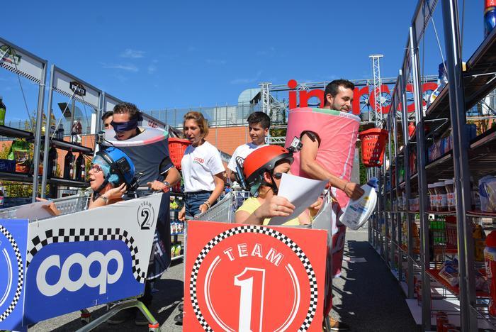 A Torino prima corsa carrelli spesa