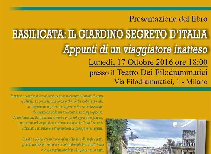 A Milano il 'giardino segreto' lucano