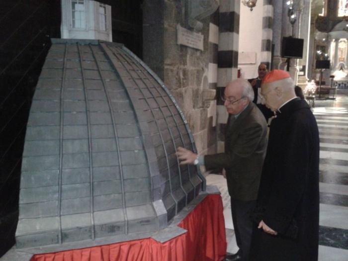Nuova cupola in piombo cattedrale Genova