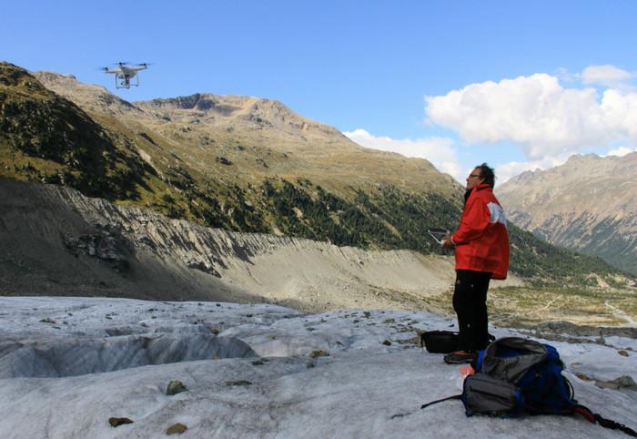 Drone Bicocca rileva calo ghiacciai