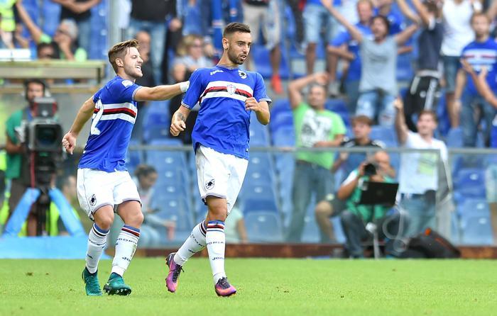 Fernandes salva la Samp, 1-1 con Palermo