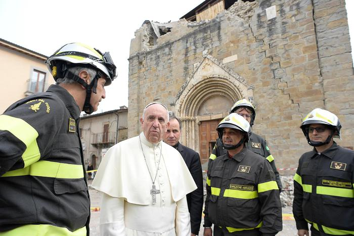 Papa Francesco a S.Pellegrino di Norcia