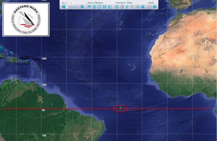 Vela: Gaetano Mura supera l'Equatore