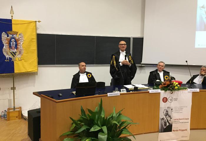 Filippetti laureato ad honorem a Urbino