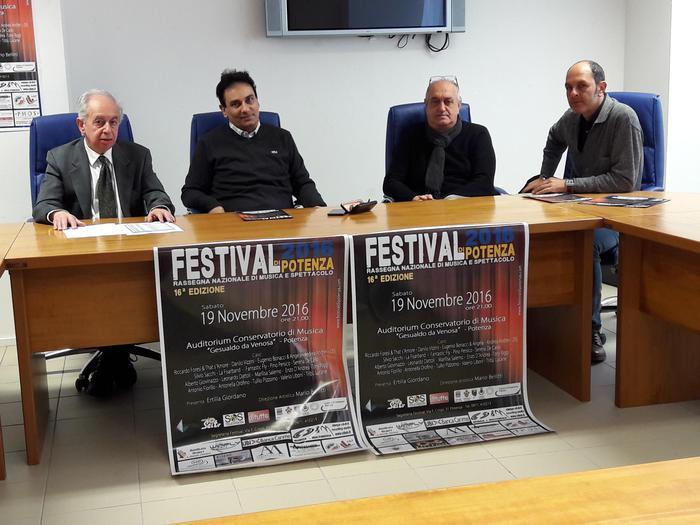Sabato il 16/o 'Festival di Potenza'