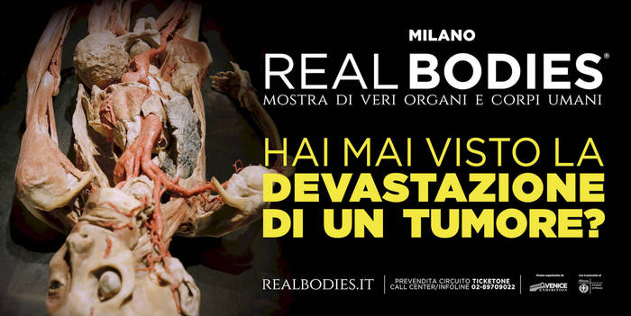Censurato manifesto mostra 'Real bodies'