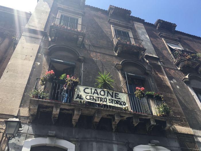 Catania, il Premier e le contestazioni$
