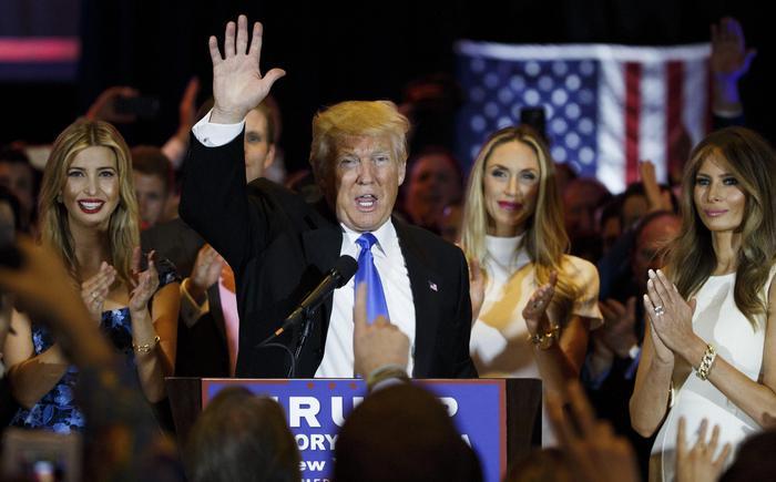 Donald Trump festeggia in Indiana.