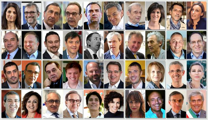 Venti capoluoghi al ballottaggio tutte le sfide for Lista politici italiani